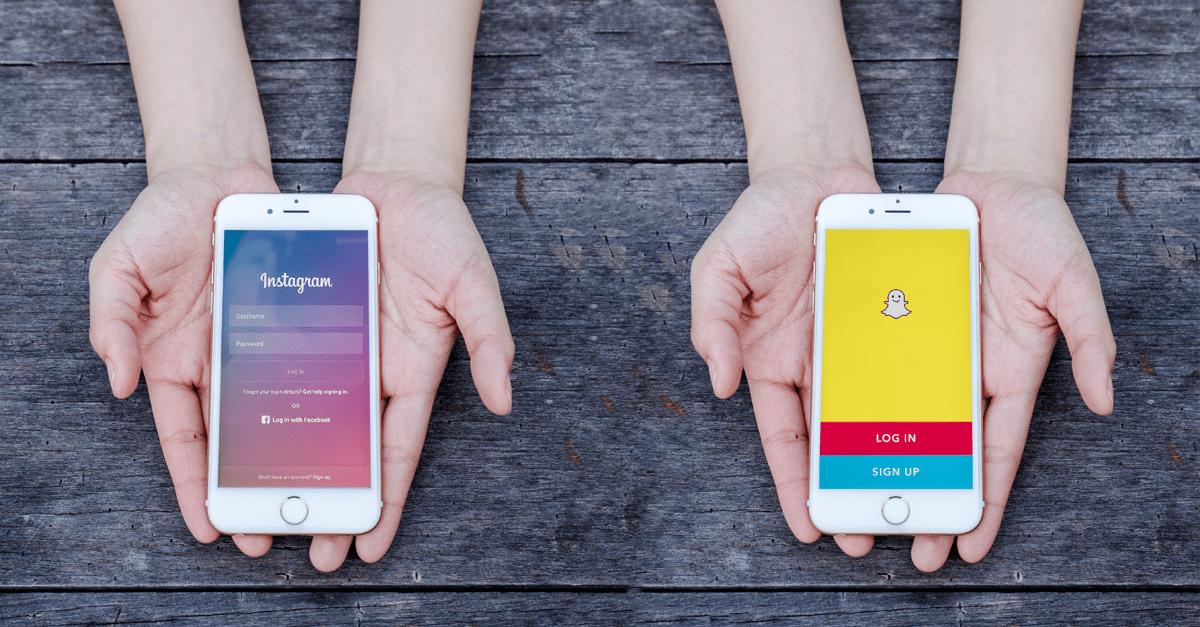 Instagram vs Snapchat – Kampen om de unges opmærksomhed