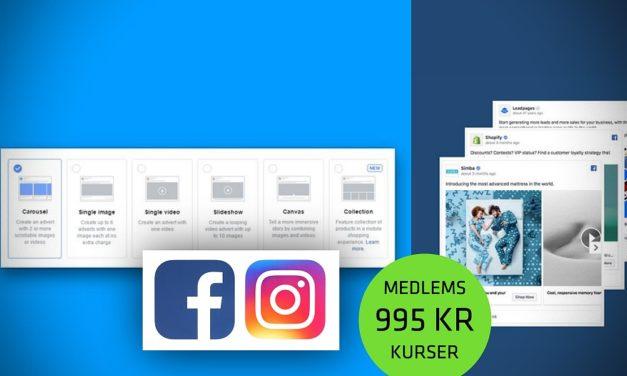 Kursus: Lær at mestre Facebook og Instagram til markedsføring