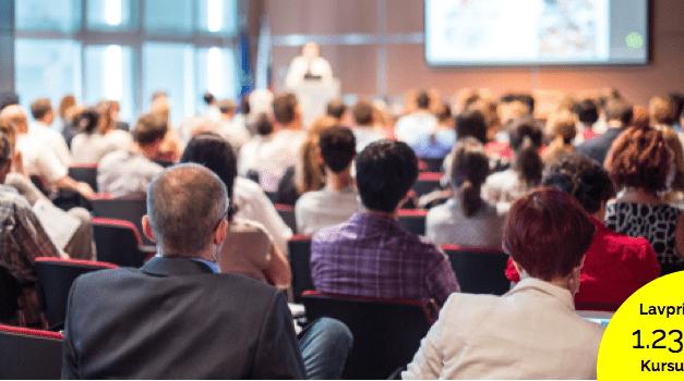 Lavpris kursus: Lær at udvikle og afholde præsentationer som en mester