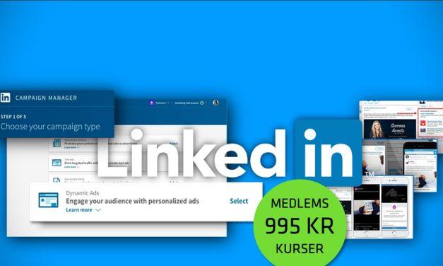 LinkedIn kursus: Lær leadgenerering, annoncering og direkte salg