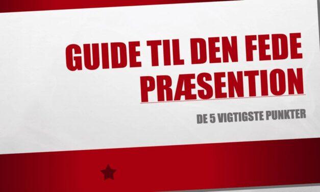 5 tips til at lave en god Seminar-præsentation