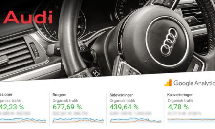 Audi: 642 % flere besøgende fra Google efter ét års SEO